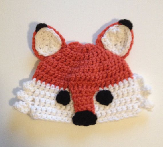Crochet fox hat Fox hat, made to order. This fox hat is the cutest hat I have seen. Kids love to play and pretend. These hats are great for dress
