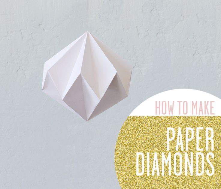 DIY: paper diamond