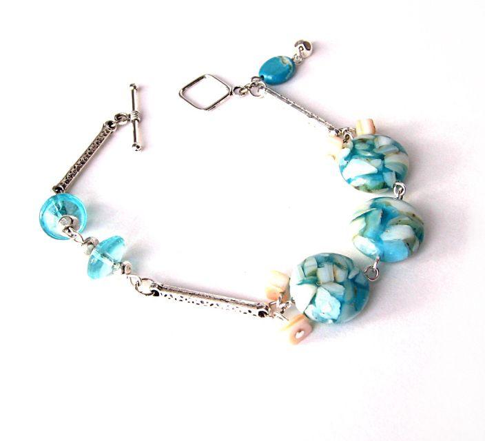 Bracelet Azur turquoise et argent