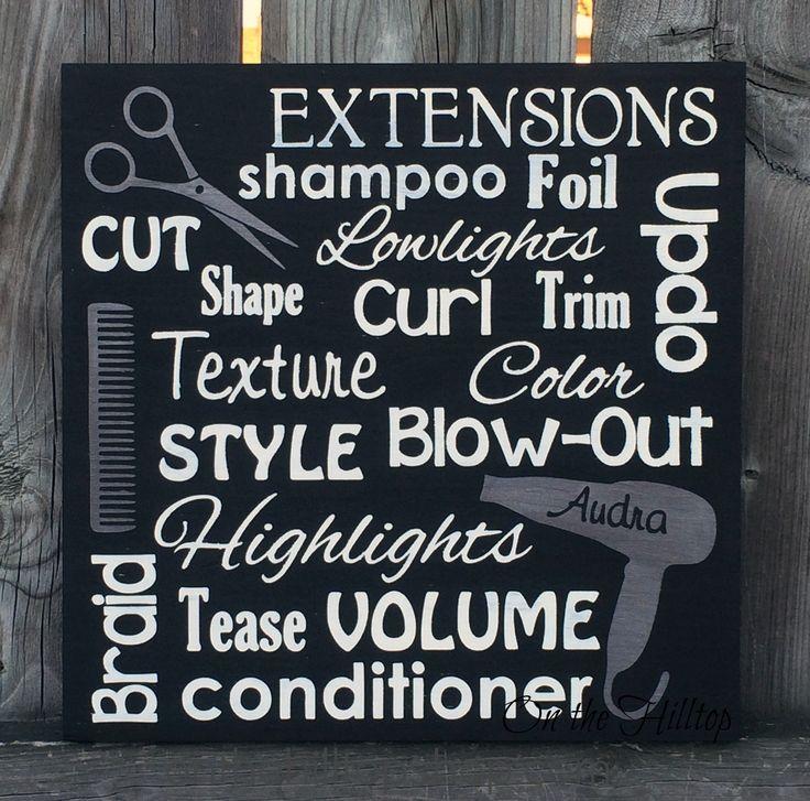 Hair Stylist Subway Art Sign Salon Sign Salon by OntheHilltop