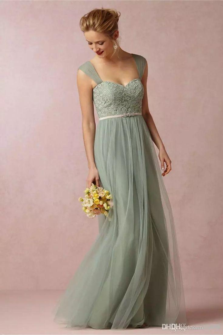 brudtärna klänning grön