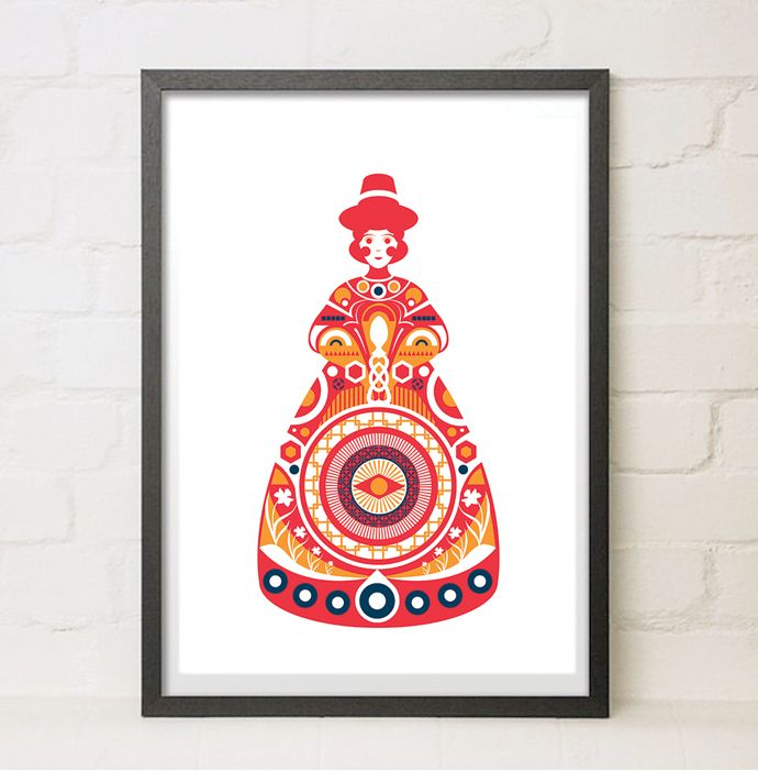 Traditional Welsh Lady Illustrated printEditions of 100 Available in 2 sizes50 x A3 SIZED (297 x 420 mm)50 x LARGER A2 SIZED (420 x 594 mm)A3 Print Giclee Print 300gsm Gesso print paper.A2 Print Digital print on Silk 230gsmDispatched ASAP.(Frame not included)FREE SHIPPING WORLDWIDE