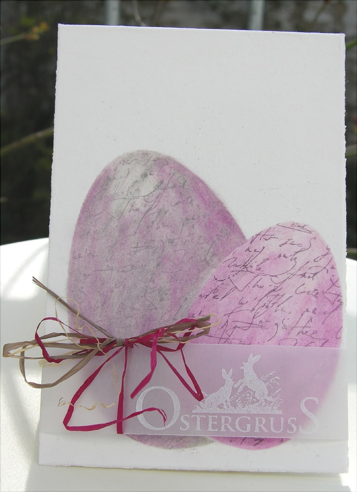 Hannas Art love the subtlety of the overlay with Easter greeting on it. The eggs are magnificent!