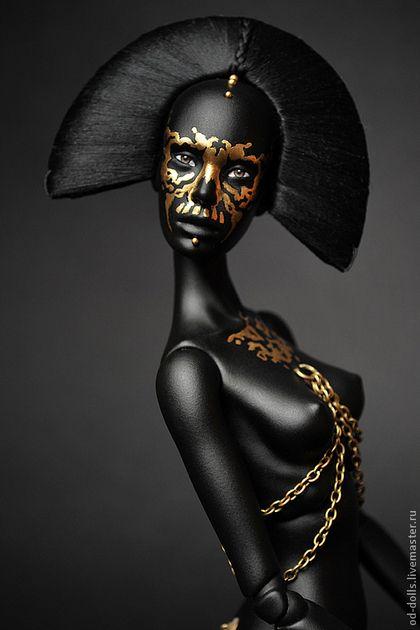 Rorshah. (ед.экз., продана) - чёрный,шарнирная кукла,бжд,bjd,кукла,флюмо