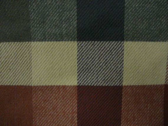 Woven heavy brushed twill plaid from Waverly by KaryLynns on Etsy, $9.00