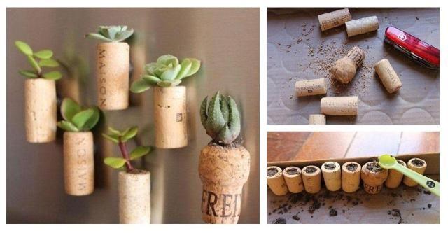 DIY- Doniczki wykonane z....kokrów po winie  #KORKI #DIY #ZRÓB TO SAMA #KROK PO KROKU #DEKORACJE
