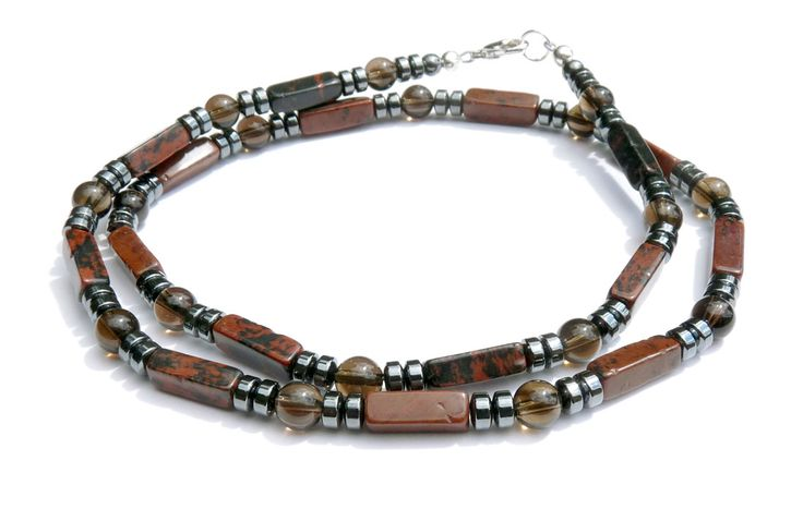 necklaces for men | Mens Beaded Necklaces: Man Healing Stone Chakra Necklace Jewelry