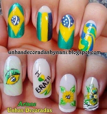 Unhas Decoradas by ฑαฑi: Nails Art, Nailart, Bling Nails, Chik Unhas, A Decorated
