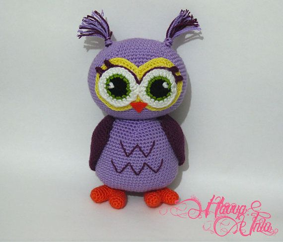 PATTERN  Purple Owl Crochet Amigurumi by HavvaDesigns on Etsy, $7.00