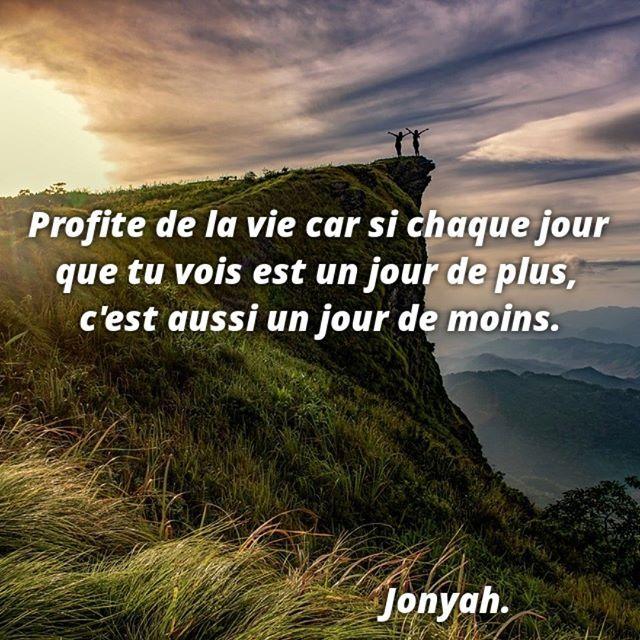 Citations Positif Vie Jour Profite Positif La Vie