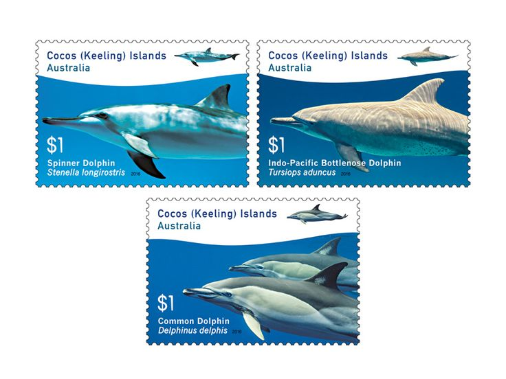 COLLECTORZPEDIA Cocos (Keeling) Islands Dolphins