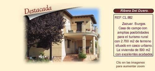 CL882 Zazuar.  Ribera del Duero. Burgos.  Casa de campo en venta con amplias posibilidades para el turismo rural. http://www.lancoisdoval.es/casas-rurales-en-venta.html