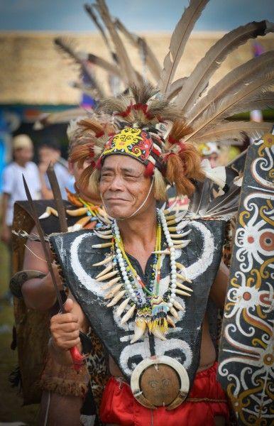 Philius Dayak Elder @the Isen Mulang Festival in central Kalimantan