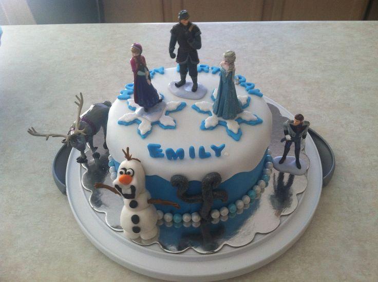 Disney's Frozen Elsa Anna Fondant Cake Birthday Party!