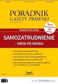 Samozatrudnienie - krok po kroku - wydanie specjalne (PDF) Księgarnia internetowa INFOR.pl - księgowość, rachunkowość, prawo pracy, podatki, prawo,