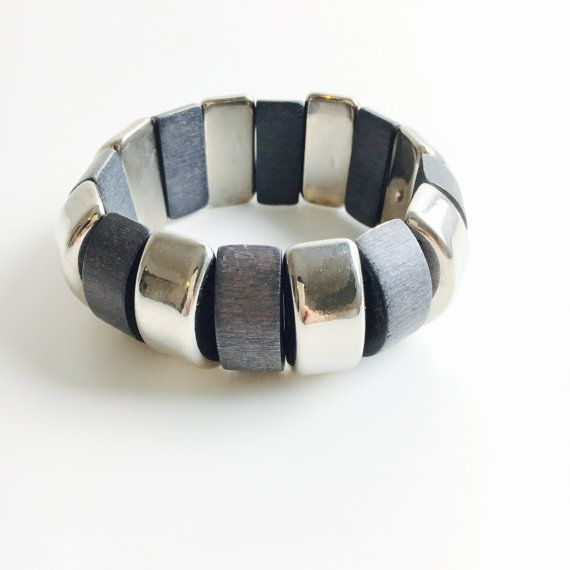 Vintage Aarikka wooden bracelet-Kaija by FinnishVintageOasis