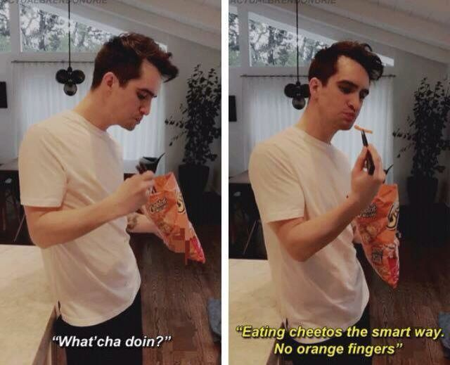 I can't not save this. Brendon, stop. Just no. Be a normal person for like two minutes. Actually, never mind. We like you weird.