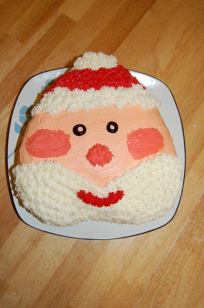 Santa Claus cake.  I used a heart shaped pan.