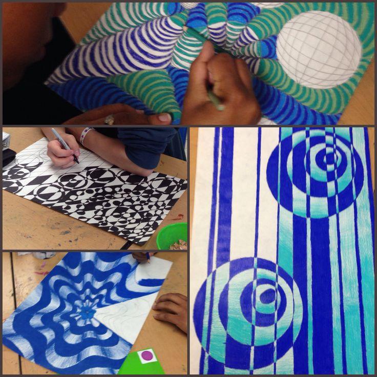 Middle school OP ART designs                                                                                                                                                                                 More