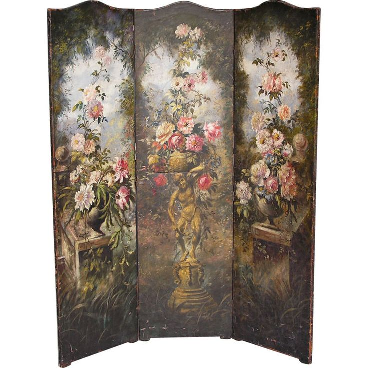 8 Best Antique Painted Screens Images On Pinterest