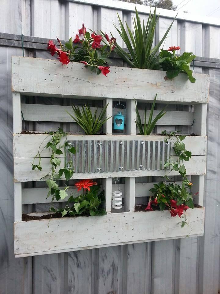vertical garden made from a pallet