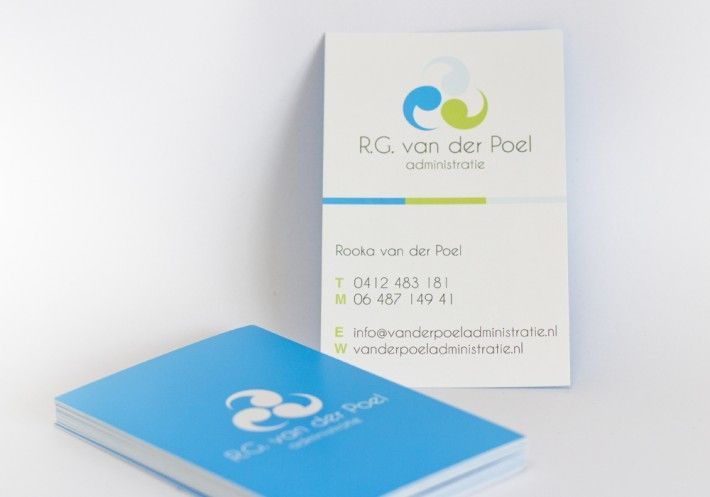 "Logo + business card ""R.G. van der Poel administratie"" by Studio Phunc"