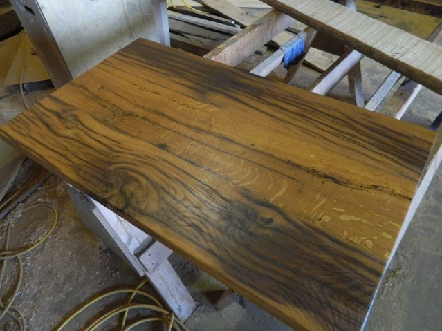 Workshop Countertop Materials : Streaked patina white oak countertop for a bathroom vanity. White oak ...