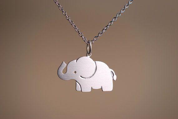 Little Elephant Necklace by marymaryhandmade on Etsy, $45.00