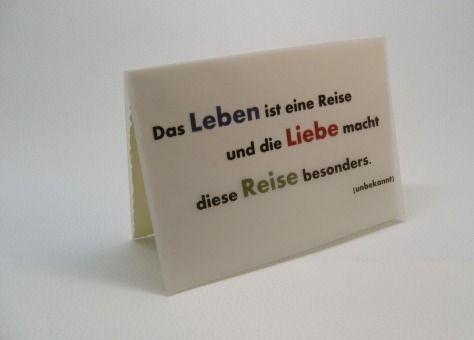 """Karte """"Lyrical Card"""" - Das Leben ist eine Reise von Nanös Welt auf DaWanda.com"""