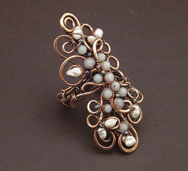 218 best Ideas for Handmade Rings images on Pinterest Wire wrapped
