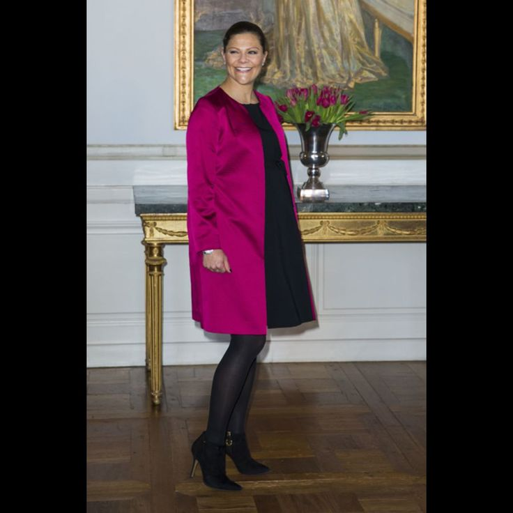 La princesse Victoria de Suède au Palais royal à Stockholm le 22 janvier 2016