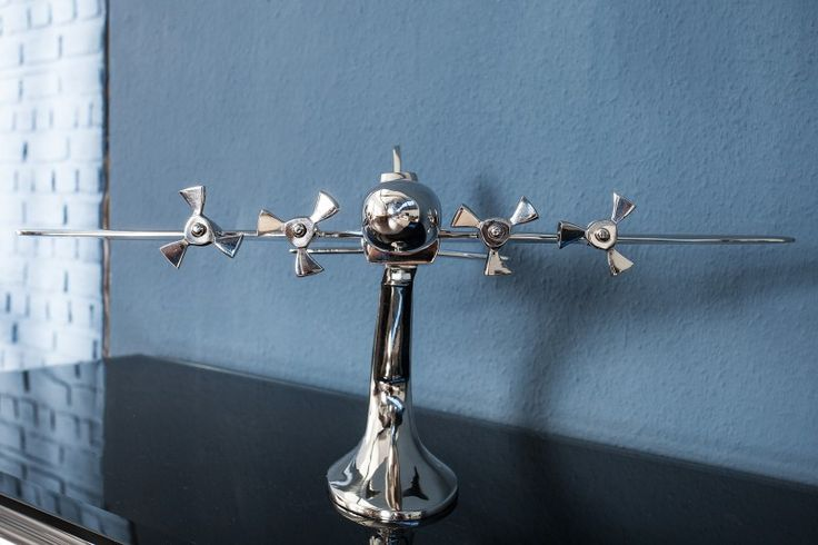 Rzeźba dekoracyjna Plane Silver aluminium 60cm - ARCHIZONA - Rzeźby