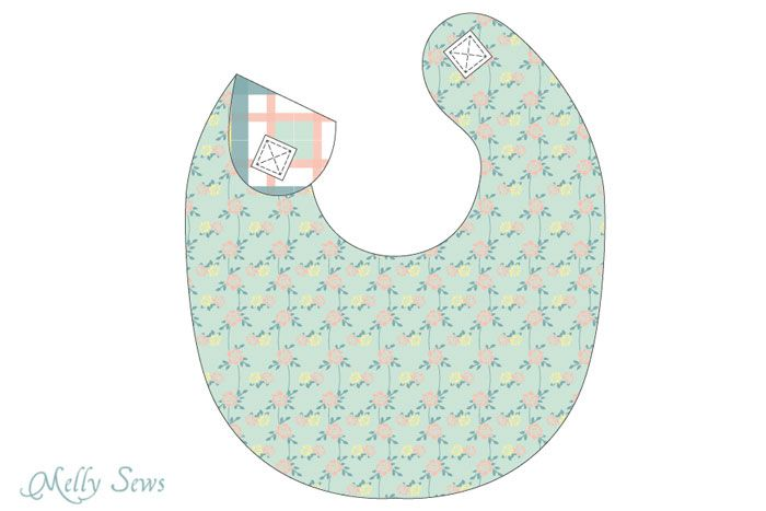Step 3 - Sew a Drool Bib with a FREE baby bib pattern - Melly Sews