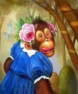 "100 Handcrafts Art Oil Painting ""Monkey"" 24x20 Inch | eBay"