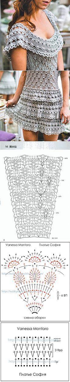 Vanessa  Montoro crochet dress with diagram