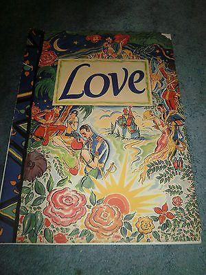 LOVE(1927)GRETA GARBO JOHN GILBERT HUGE ORIGINAL PROMOTIONAL BOOK