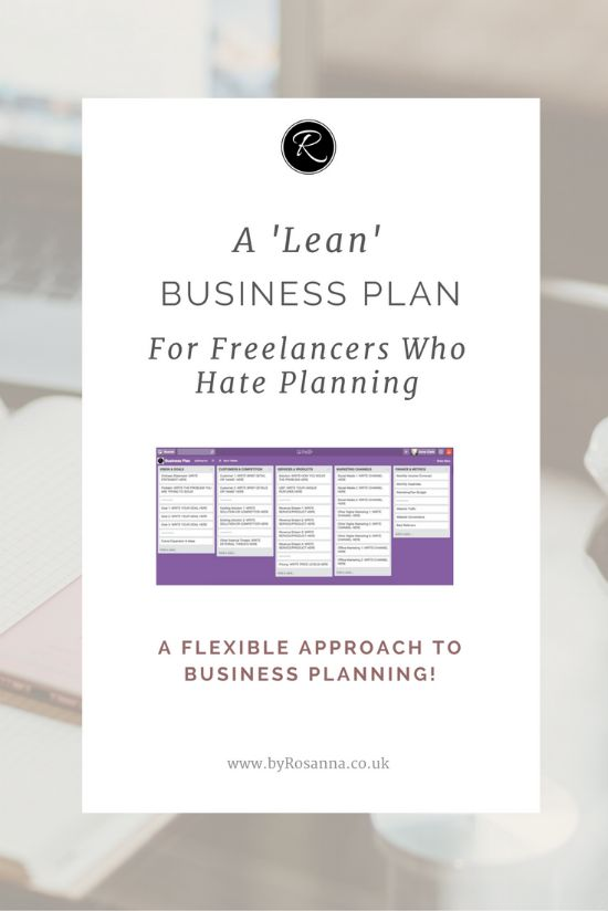 A 'Lean' Business Plan for Freelancers Who Hate Planning!