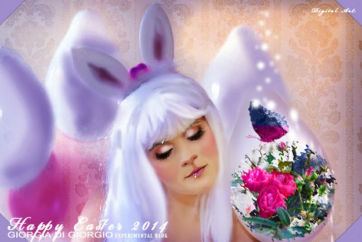"http://makeupartistgiorgia.blogspot.it/ Fantasy thinking - Happy Easter ""il fiore e la farfalla"" artwork by Giorgia Di Giorgio Gallery (page)"