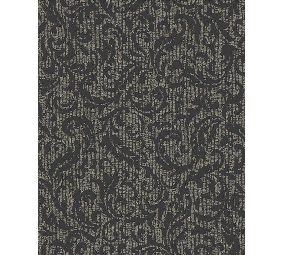 Buy Graham & Brown Cashmere Wallpaper - Charcoal & Champagne at Argos.co.uk - Your Online Shop for Wallpaper, Wallpaper, painting and decorating, Home improvements, Home and garden.