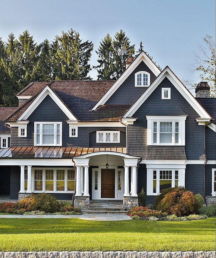 Dark gray front home exterior 64 best