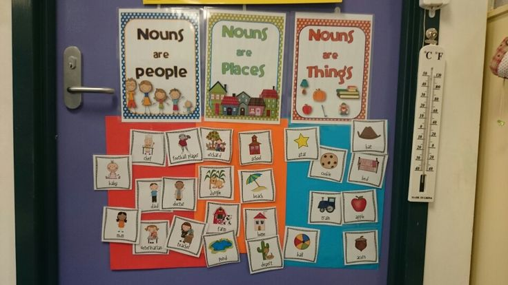 Noun sort with laminated pictures