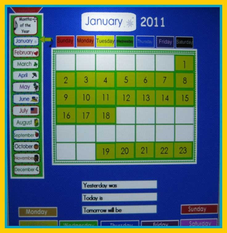 Kindergarten Calendar Smartboard : Images about school smartboard on pinterest
