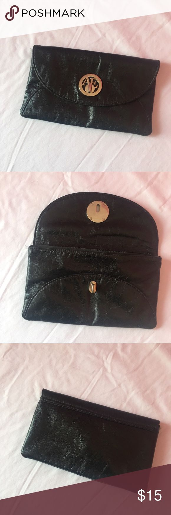american eagle outfitters black clutch - lightly used  - open to offers + bundles + questions American Eagle Outfitters Bags Clutches & Wristlets