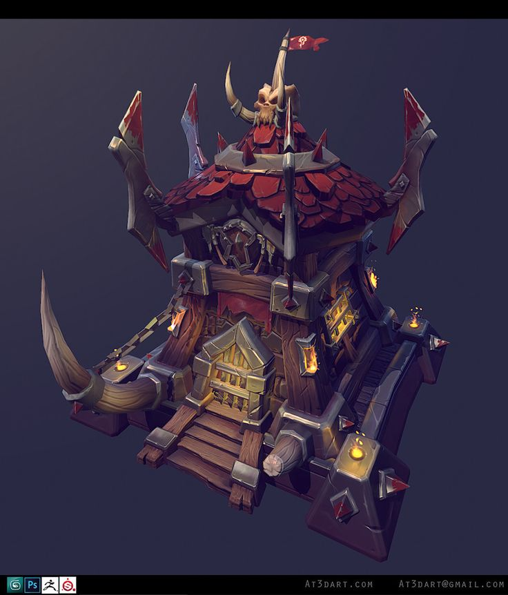 ArtStation - Warcraft Orc Fort , Anthony Trujillo