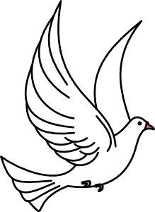 Flying Dove Clip Art at Clker.com - vector clip art online ...