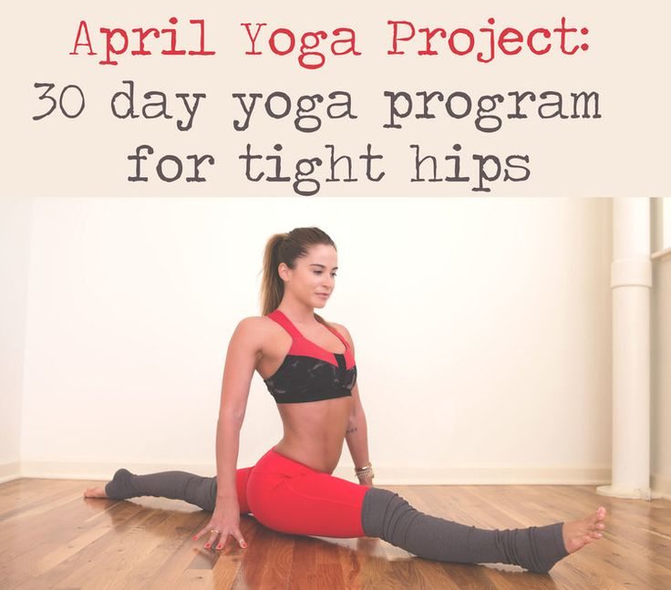 Pin now, and join in the 30 Day Yoga Program for Tight Hips Wearing: alo yoga pants and bra, c/o.