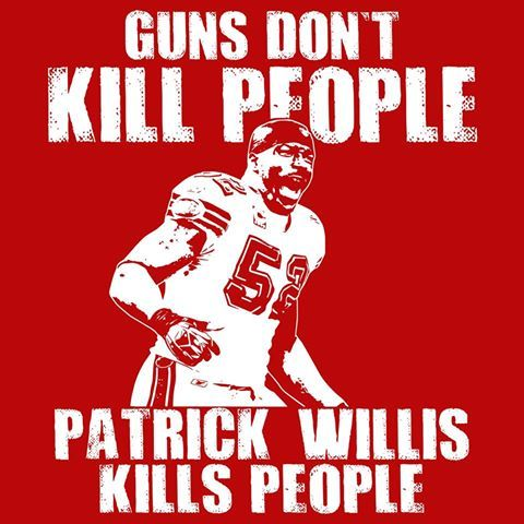 Patrick Willis 49ers....not making a statement here, just love my 9ers! Especially this one!