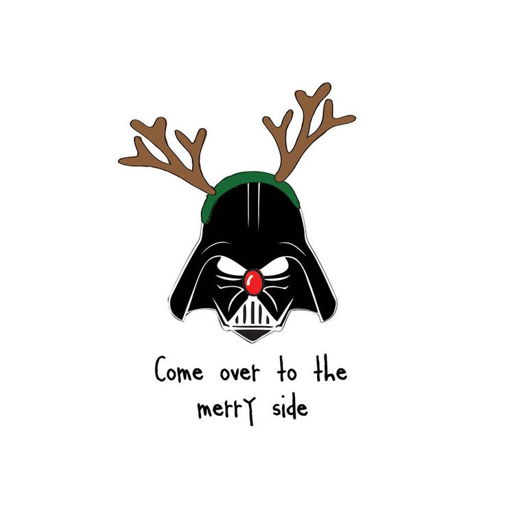 'Come Over To The Merry Side' Star Wars Christmas Card