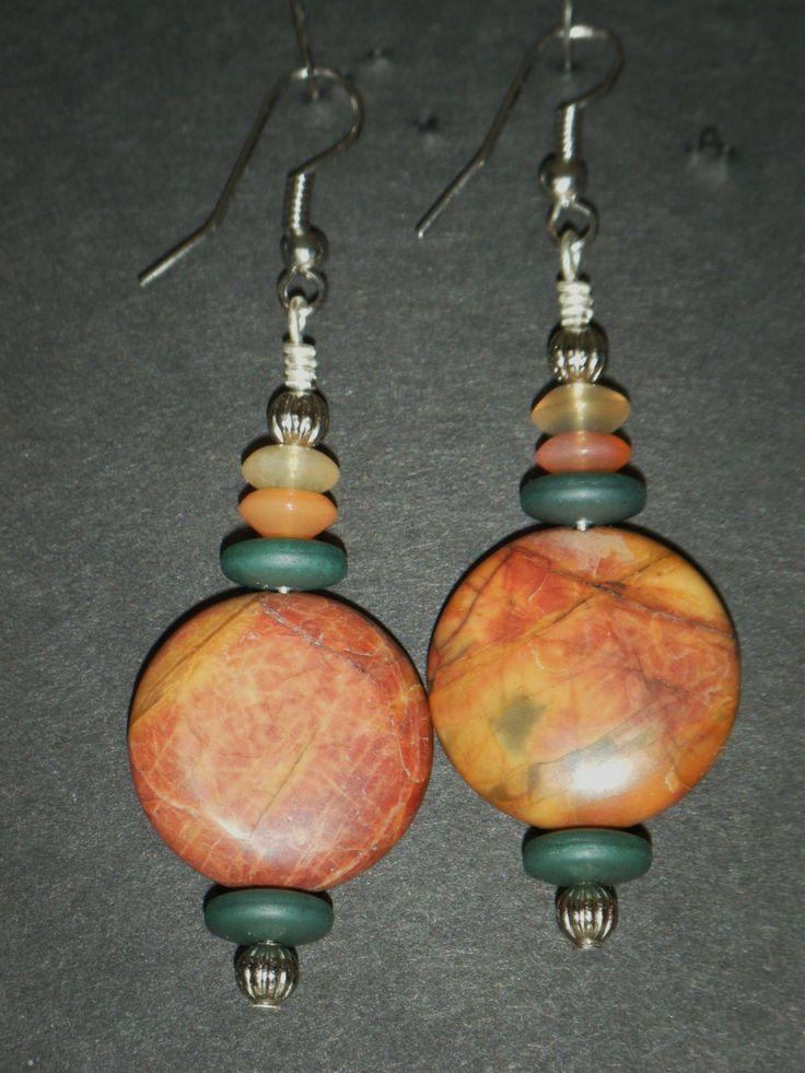 Gold/Orange round with green