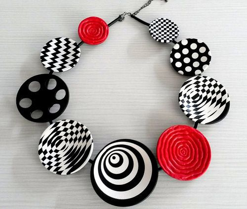 Polymer clay necklace | Inspired by Donna Kato | Flickr